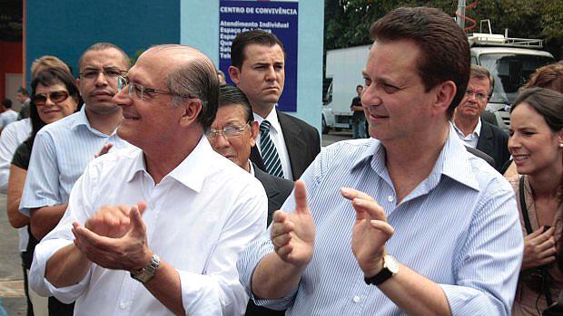 Lua de mel: o governador Geraldo Alckmin e o prefeito Gilberto Kassab na inauguração do Complexo Prates