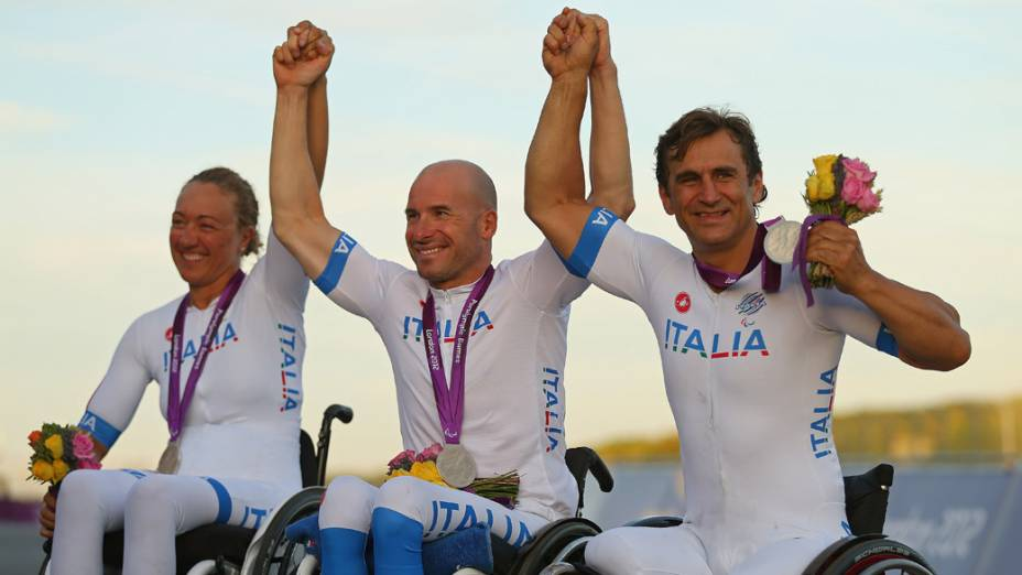 Alessandro Zanardi também faturou uma medalha de prata nos Jogos Paralímpicos de Londres, em 2012