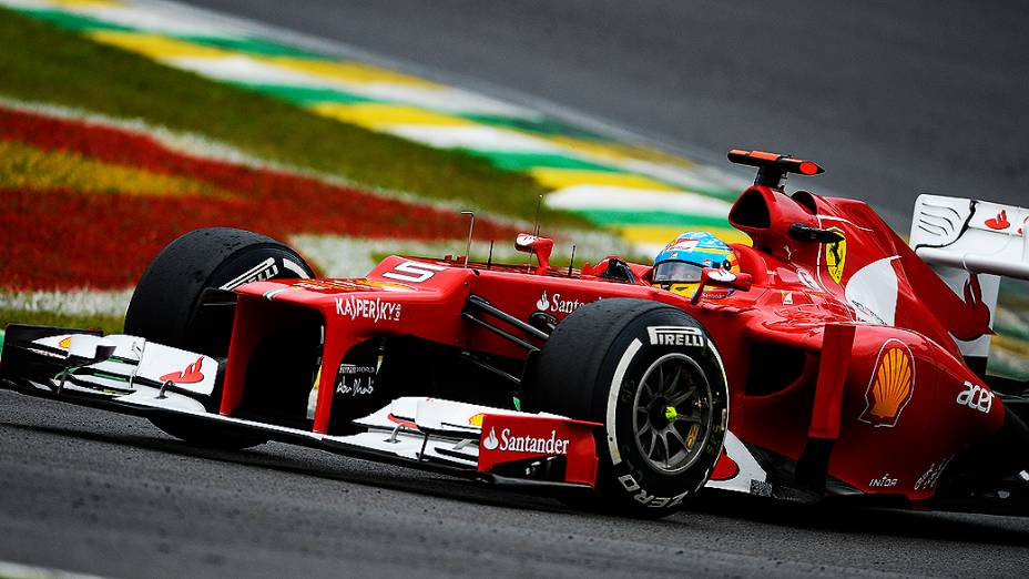 Fernando Alonso no GP do Brasil de Fórmula 1, em Interlagos