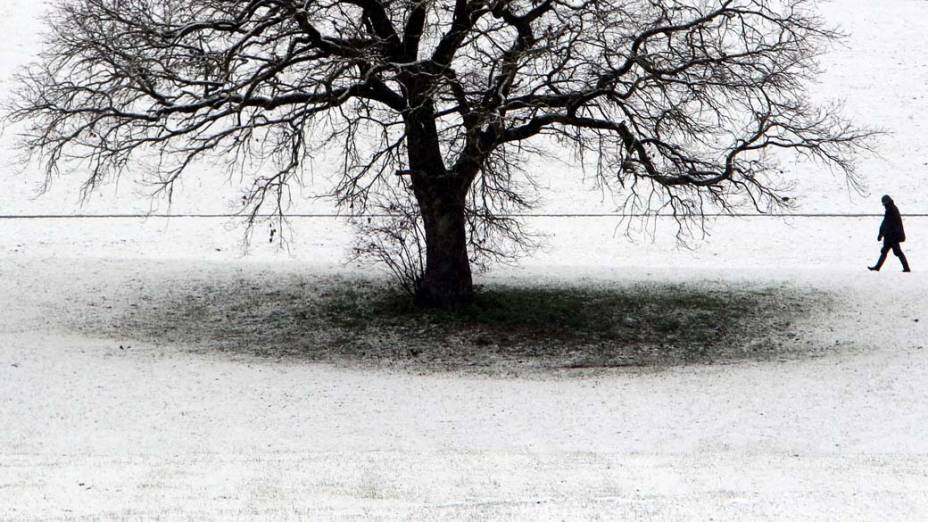 Neve em Altdorf, na Alemanha