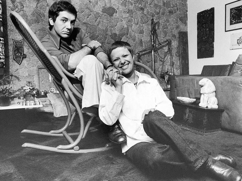 Elis Regina e César Camargo Mariano em 1976