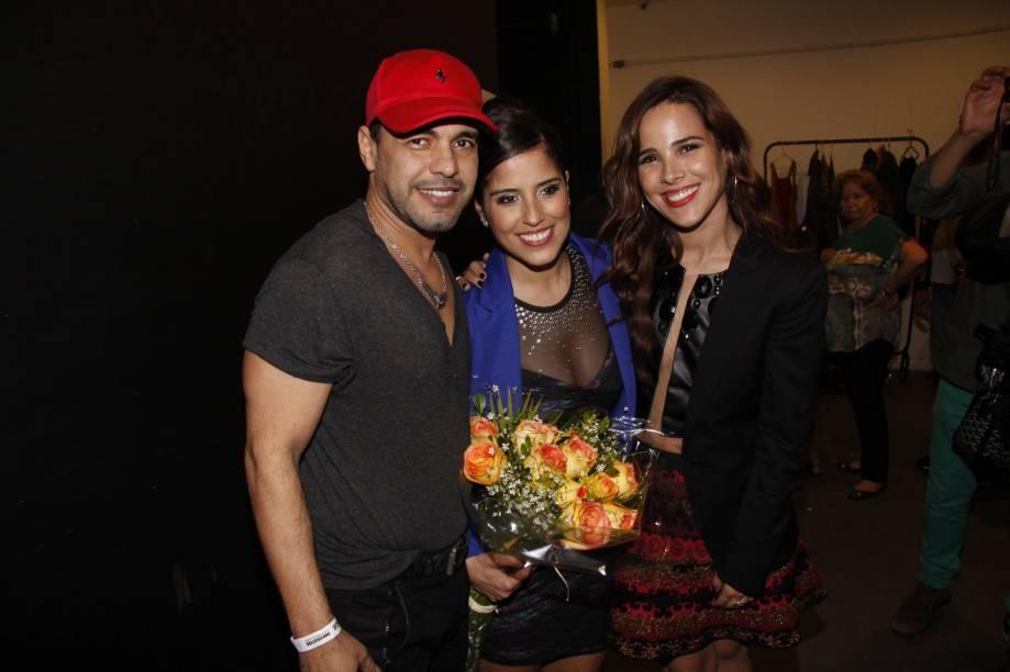 Zezé di Camargo, com as filhas Camila e Wanessa