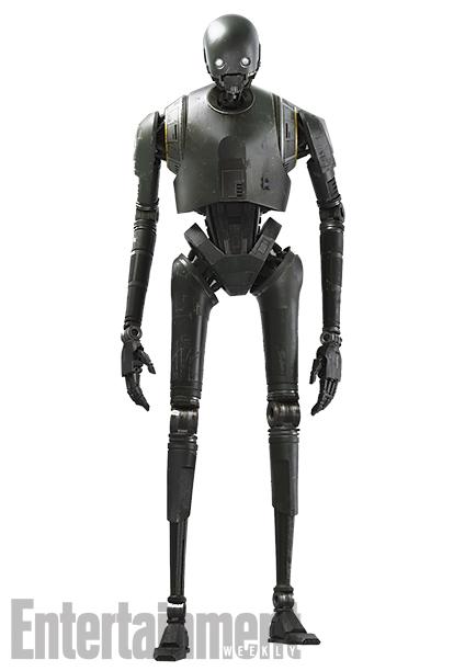 O androide K-2SO, personagem do filme Rogue One - Uma História Star Wars