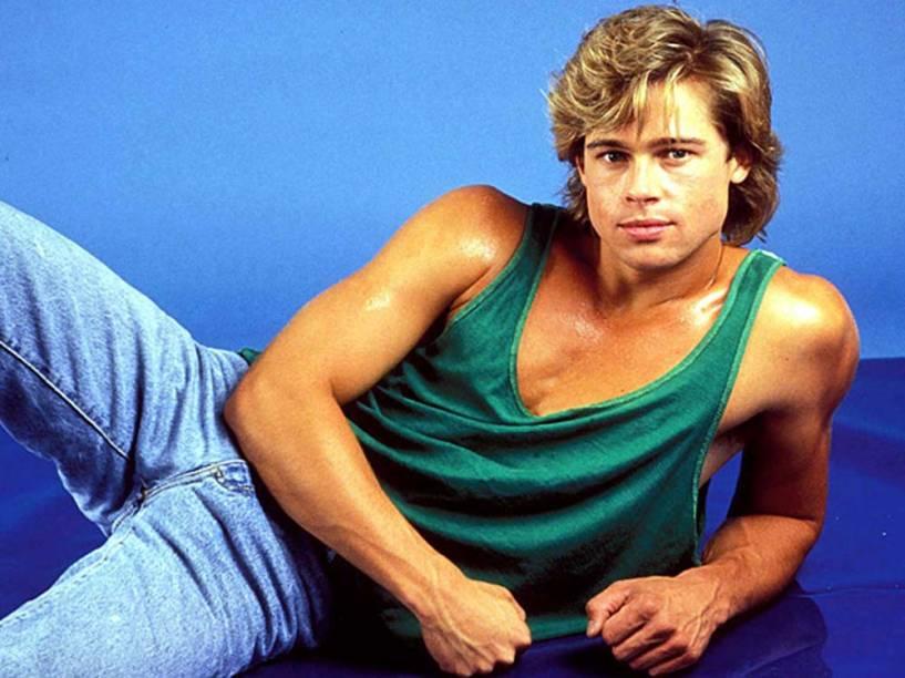 Brad Pitt posa para campanha da Levis Jeans,em 1991