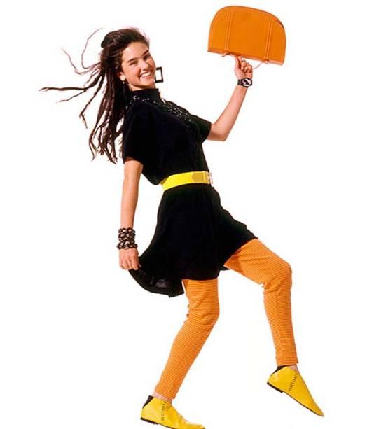 Jennifer Connelly, atriz de Uma Mente Brilhante (2001), em ensaio para a revista americana Seventeen, em 1986