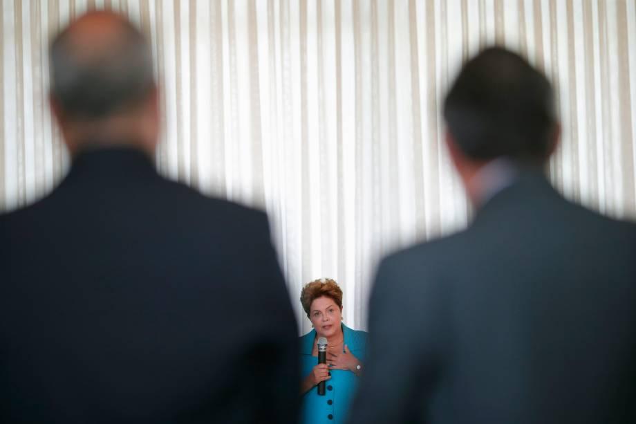 Dilma Rousseff discursa durante encontro com reitores das universidades federais brasileiras no Palácio da Alvorada em Brasília (DF) - 11/09/2014