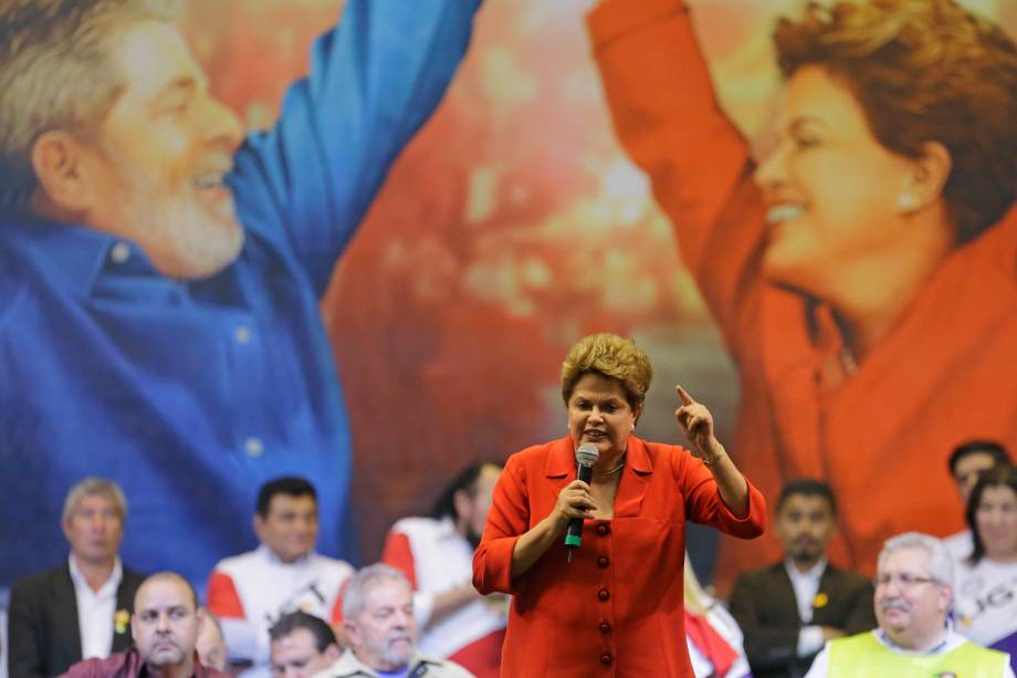 Dilma discursa para militantes e sindicalistas na Zone Norte de São Paulo - 07/08/2014