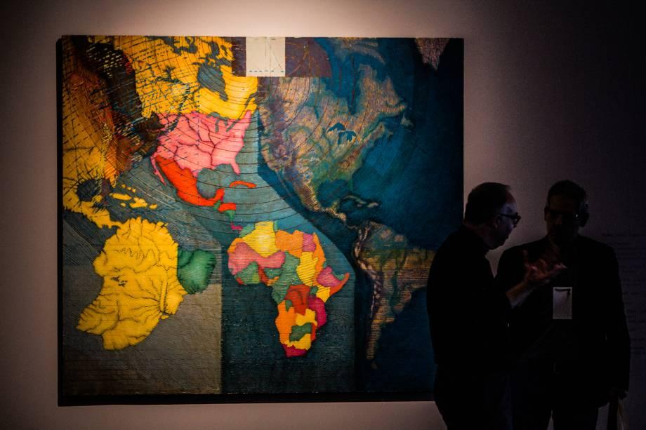 Obra Mapa Mundi (1979), do artista chileno Juan Downey