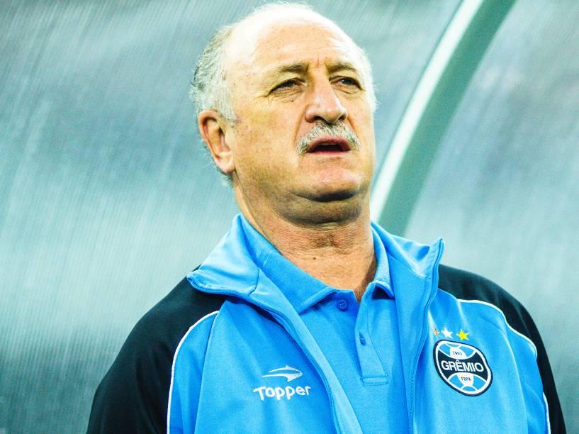 O técnico do Grêmio Luiz Felipe Scolari