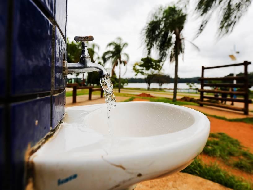 Parque da Cidade, em Jundiaí, abriga o reservatório de água da cidade