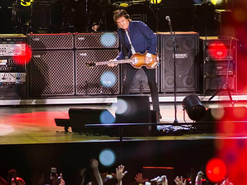 Paul McCartney durante show no Rio de Janeiro