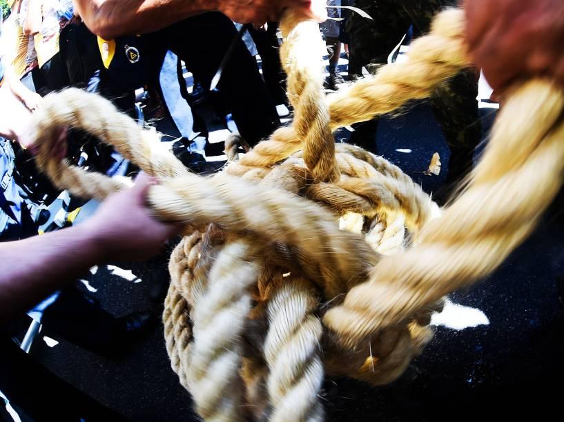Corda de 150 metros será distribuída aos fiéis ao fim da procissão do Círio de Nazare