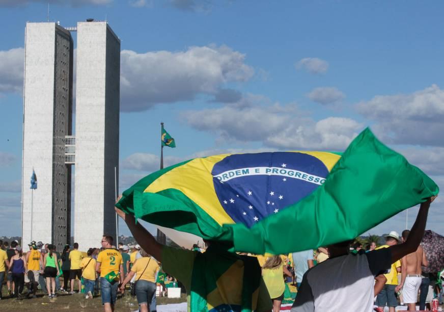 Manifestação a favor do Impeachment em Brasília - 17/04/2016
