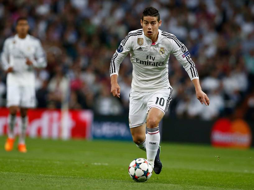 O jogador James Rodriguez, do Real Madrid
