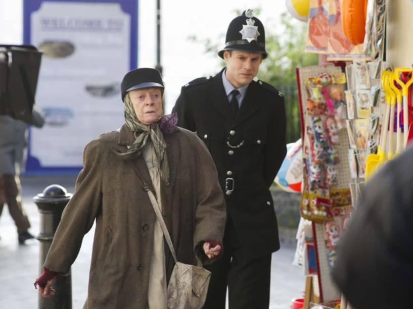 """Miss Shepherd (Maggie Smith) em cena do filme """"A Senhora da Van"""""""