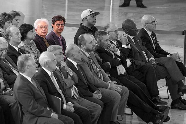 Aguinaldo na cerimônia da entrega da comenda da Ordem do Mérito Cultural, em Brasília - 5/11/2014
