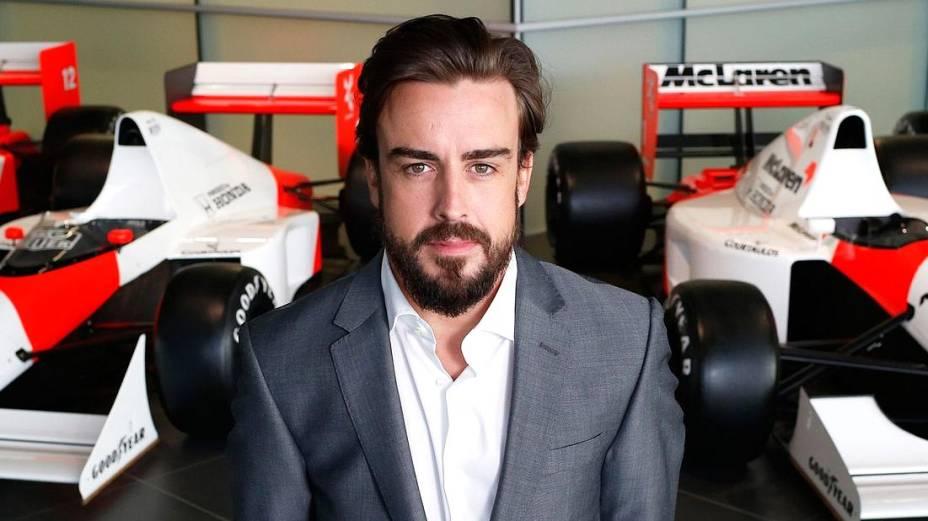 Fernando Alonso foi apresentado nesta quinta-feira como novo piloto da McLaren