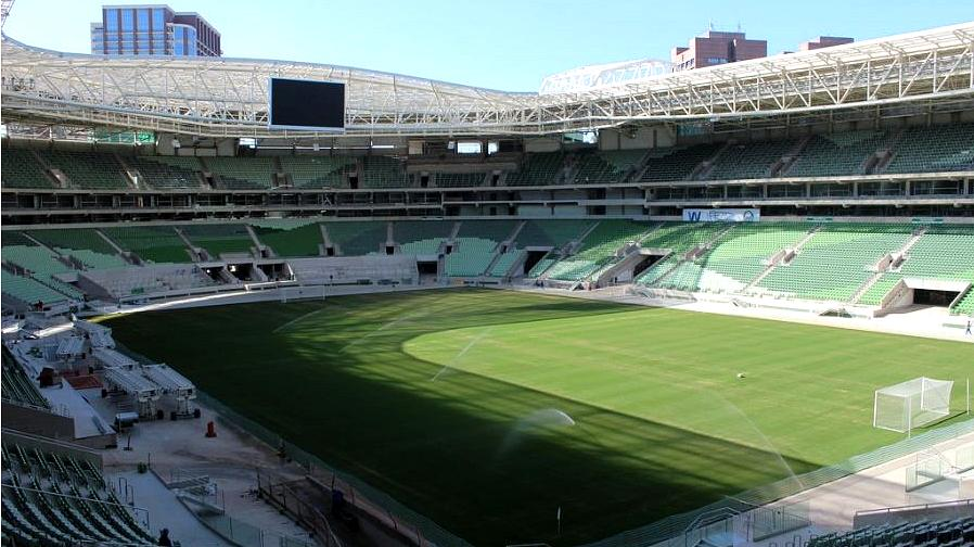 Imagens mais recentes mostram Arena do Palmeiras praticamente concluída