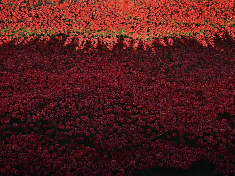 Instalação de arte na Torre de Londres homenageia os mortos na Primeira Guerra Mundial