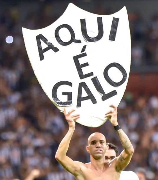 Diego Tardelli comemora a classificação do Atlético-MG para a final da Copa do Brasil