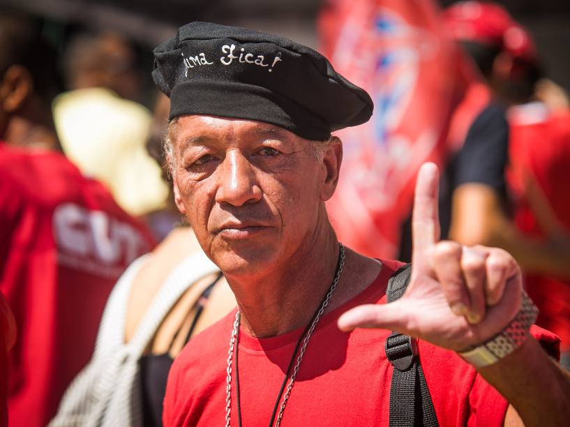 Vale do Anhangabaú é palco de manifestação contra o Impeachment na cidade de São Paulo - 17/04/2016