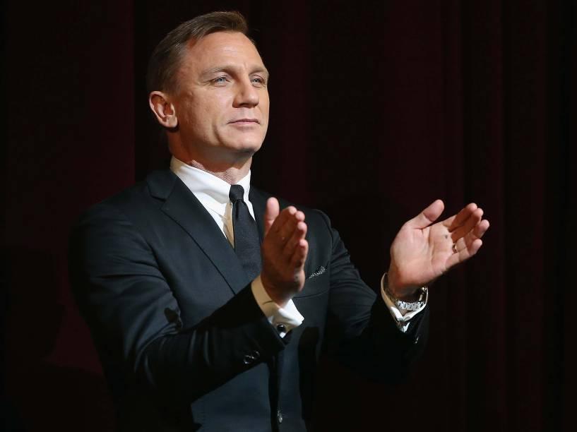 Daniel Craig durante lançamento do filme 007 - Operação Skyfall, em 2012