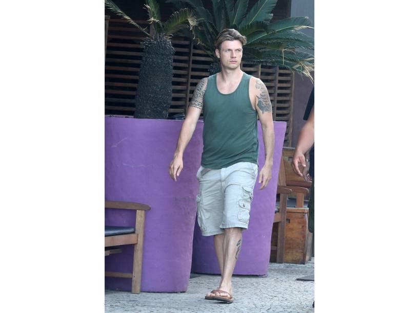 Nick Carter passeia pelo Rio