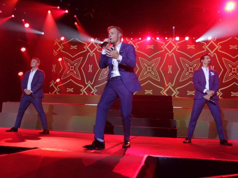 "Backstreet Boys se apresentam no Citibank Hall, na Barra da Tijuca, em show da turnê ""In a World Like This"""