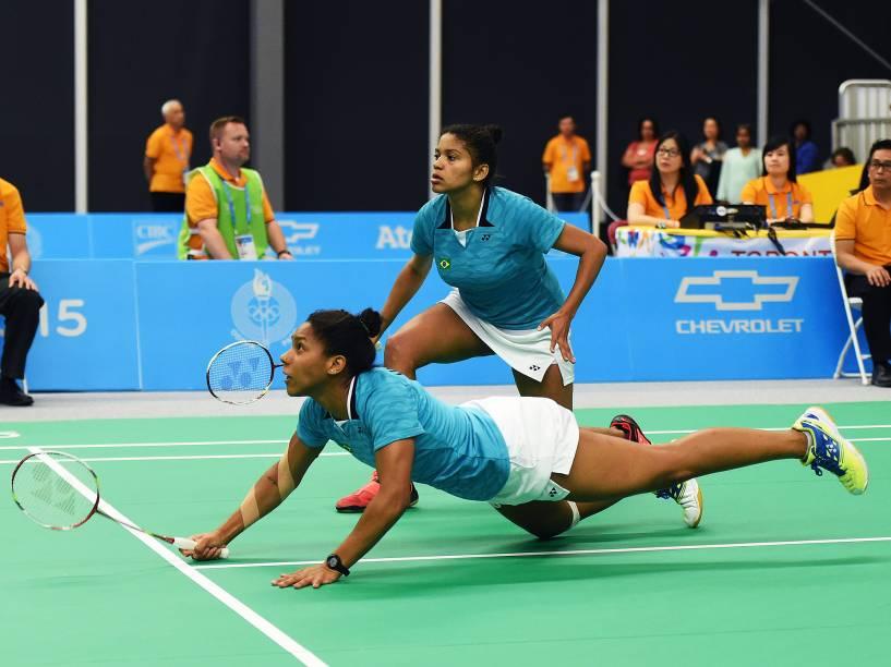 A dupla fez história na competição feminina ao disputar a medalha de ouro na competição de Badminton dos Jogos Pan-Americanos, em Toronto, Canadá. Primeira dupla brasileira a disputar a final