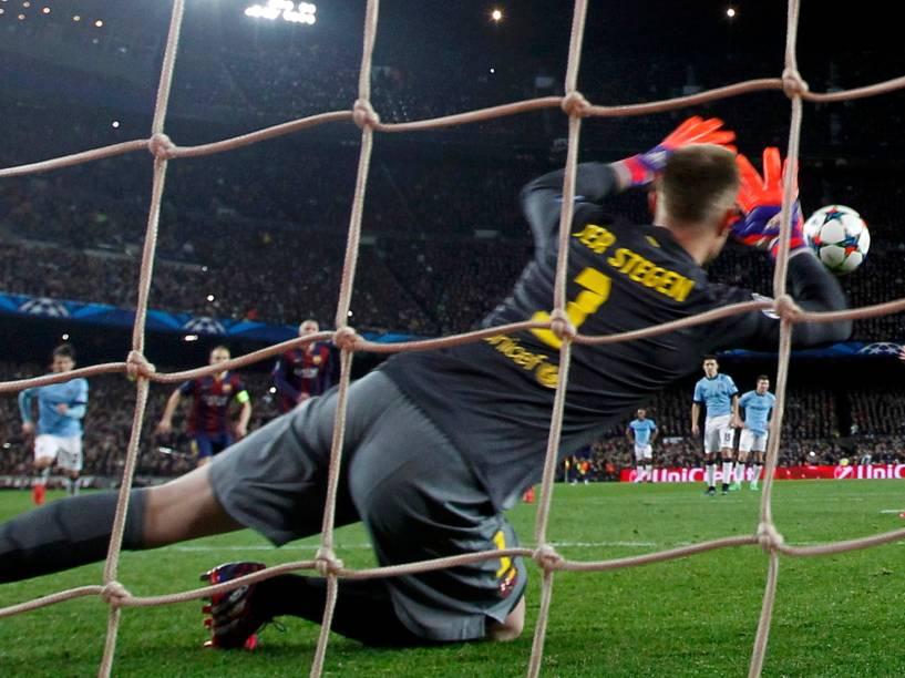 O Barcelona venceu nesta quarta-feira o Manchester City por 1 a 0, no Camp Nou