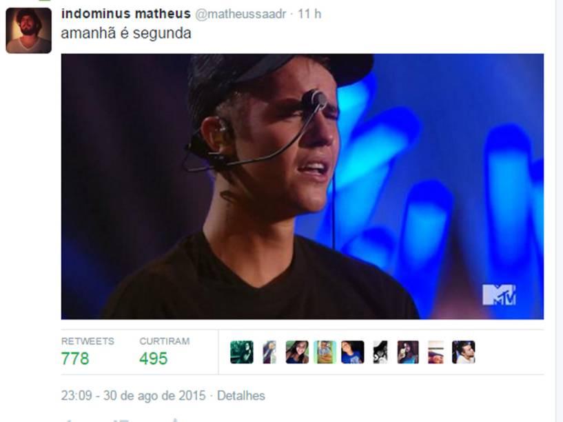 Justin Bieber chorou durante sua apresentação no VMA