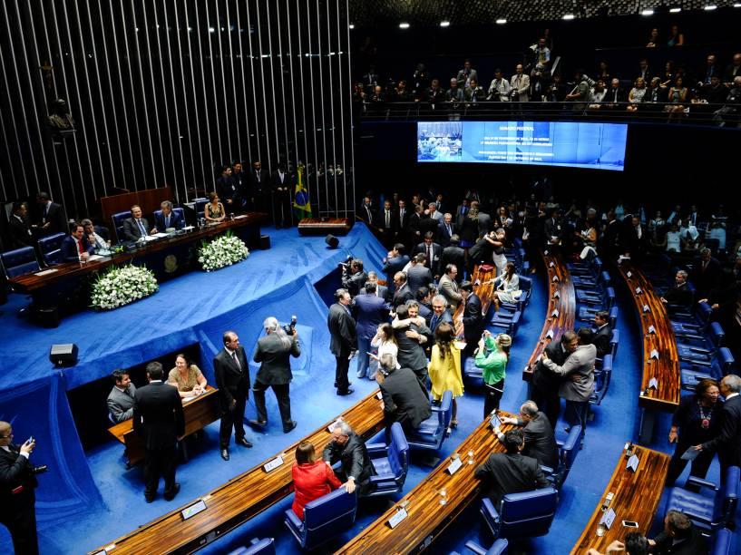 Solenidade de posse dos senadores durante primeira reunião preparatória para 55ª Legislatura - 01/02/2015