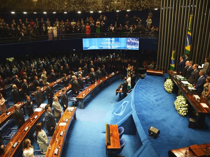 Cerimônia de posse dos senadores para a 55ª legislatura do Senado Federal - 01/02/2015