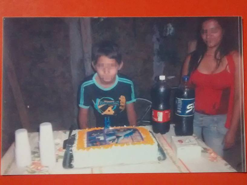 O menor I.V.I., de 15 anos em sua festa de aniverário