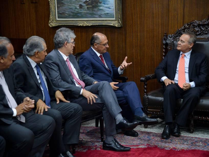 No Senado, 25 governadores se reúnem com o presidente Renan Calheiros (PMDB-AL)