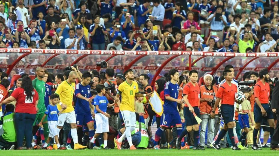 O amistoso entre Brasil e Japão, em Cingapura