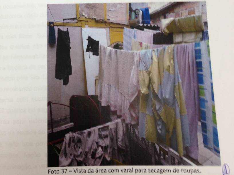 Lugar reservado para estender roupa no Hotel Laid