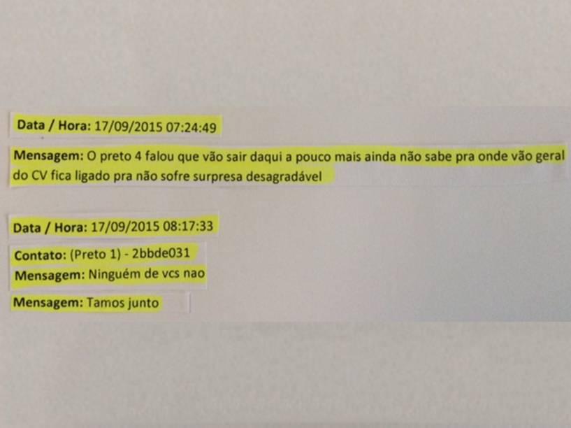 """Agente fala aos criminosos sobre ação em favelas: """"pra não sofre surpresa desagradável"""""""