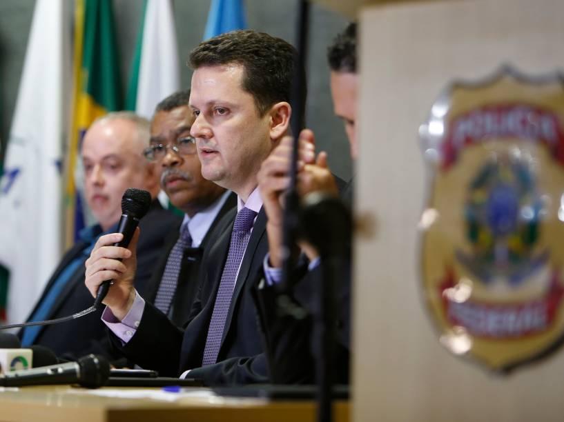 Coletiva de imprensa da Polícia Federal com informações sobre a Operação Lava Jato em Curitiba - 14/11/2014