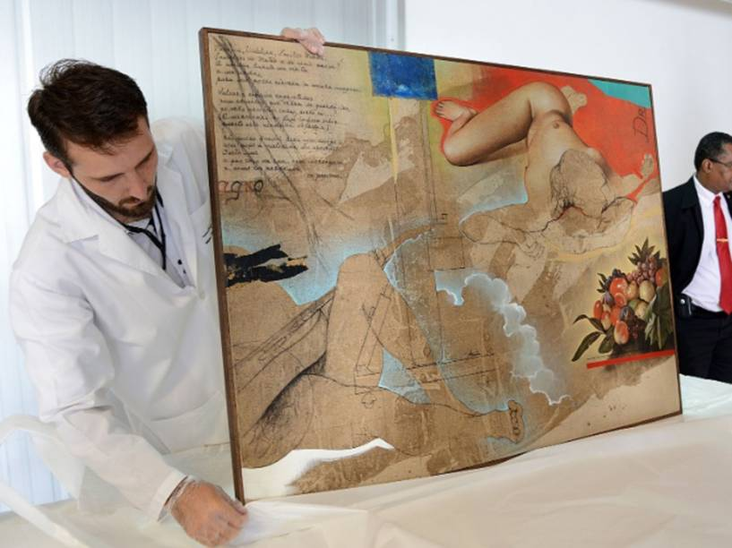 Obra de Sergio Ferro apreendida pela Polícia Federal na Operação Lava Jato