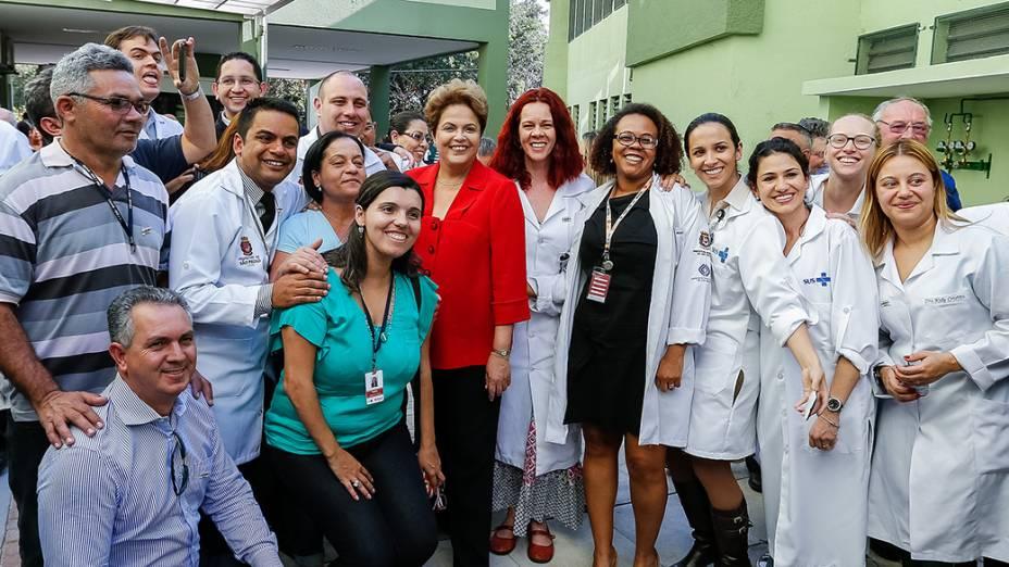 Dilma Rousseff visita o Centro de Reabilitação IV MBoi Mirim em São Paulo - 09/09/2014