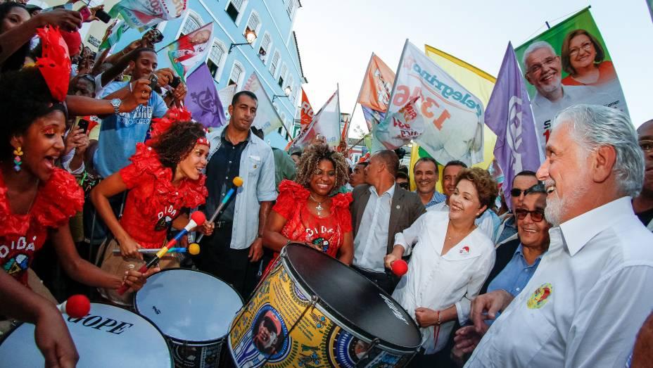 Dilma Rousseff participa de encontro com Grupos Culturais na Casa de Cultura do Pelourinho, em Salvador (BA) - 29/08/2014