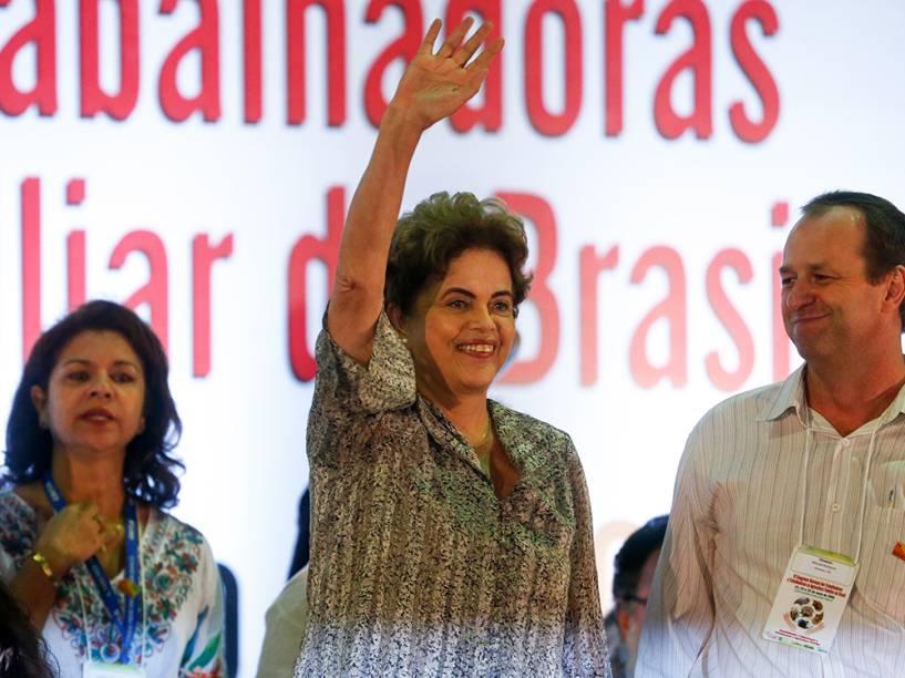 A presidente da República afastada, Dilma Rousseff participa do IV Congresso Nacional dos Trabalhadores e Trabalhadoras na Agricultura Familiar do Brasil, realizado no Pavilhão de Exposições do Parque da Cidade, em Brasília (DF) - 23/05/2016