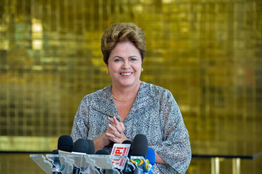 A presidente Dilma Rousseff durante entrevista coletiva em Brasília (DF) - 19/09/2014