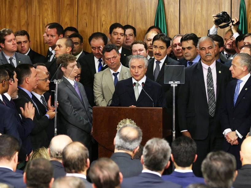 Cerimônia de posse dos ministros do governo do presidente da República em exercício, Michel Temer, no Palácio do Planalto, em Brasília (DF) - 12/05/2016