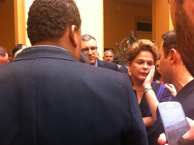 Presidente Dilma Rousseff chega para o velório de Eduardo Campos no Recife