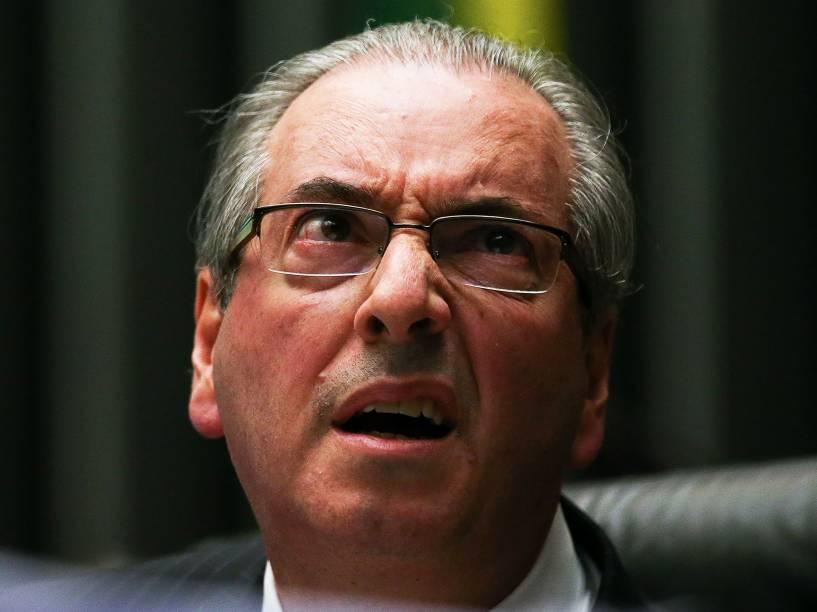 O ex-presidente da Câmara dos Deputados, Eduardo Cunha (PMDB-RJ), preside sessão de votação do Projeto de Resolução 134/16, que determina o recálculo da proporcionalidade partidária para a composição de comissões - 27/04/2016