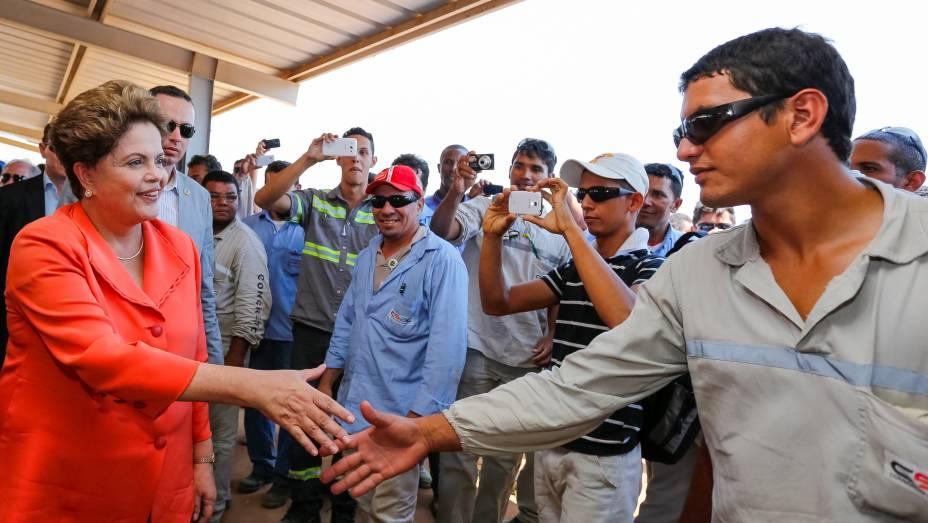 Dilma Rousseff visita Usina Hidroelétrica Santo Antônio em Porto Velho (RO) - 19/08/2014