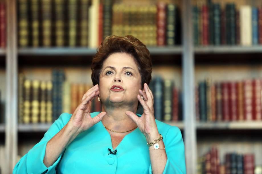 Dilma Rousseff participa de entrevista ao Estadão - 08/09/2014