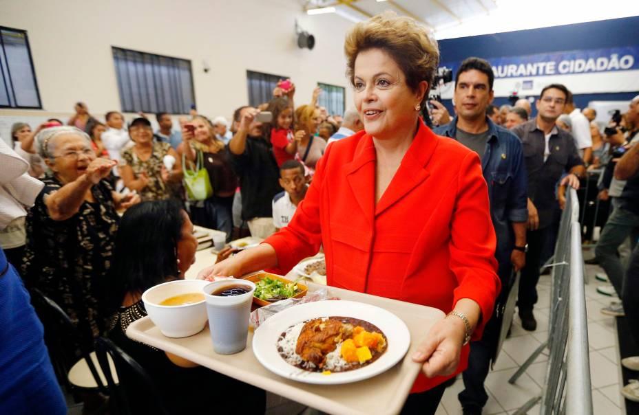 Dilma Rousseff almoça em restaurante popular no Rio de Janeiro - 27/08/2014